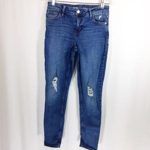 Old Navy Rockstar Jeans Distressed Mid Rise 6
